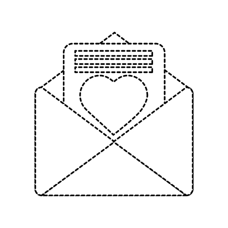 Love letter valentines day related icon image. Vector illustration design black and white.