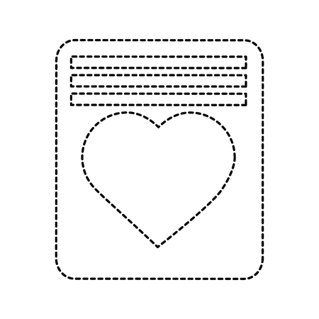Love letter valentines day related icon image vector illustration design black dotted line