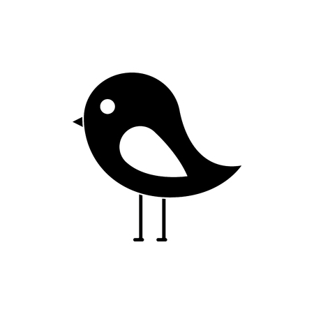 bird cartoon icon image vector illustration design  black and white