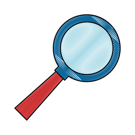 Magnifying glass icon vector illustration design Stok Fotoğraf - 96609679