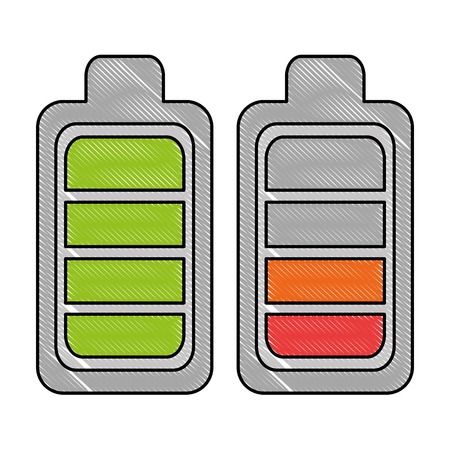Battery levels power icon vector illustration design Stok Fotoğraf - 96609676
