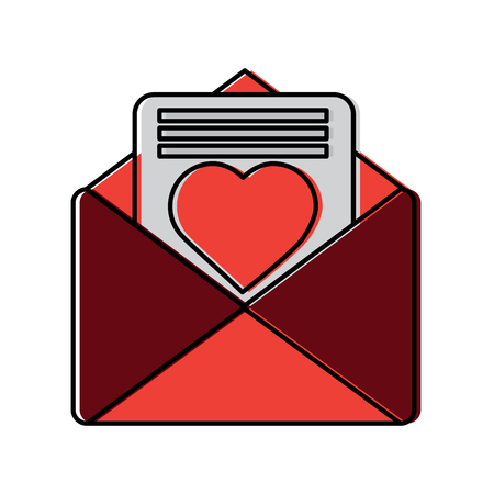 Love letter valentines day related icon image vector illustration design