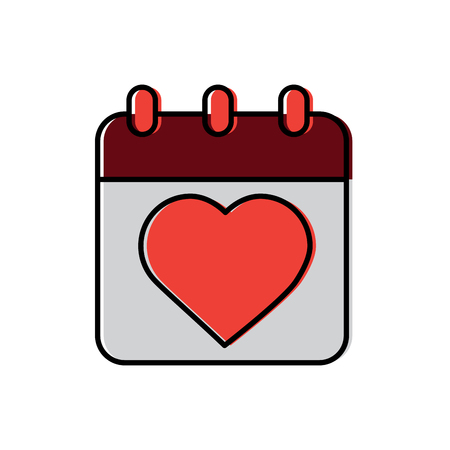 Calendar valentines day related icon image vector illustration design Illustration