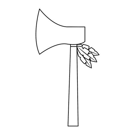 ハチェット武器 古代伝統的なアイコン画像ベクトルイラストデザイン  イラスト・ベクター素材