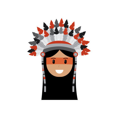 Happy native american person icon image vector illustration design Ilustrace