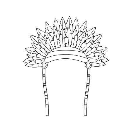 Headdress native american icon image vector illustration design Illustration