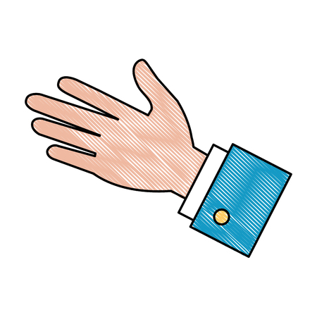 A human palm icon, isolated vector illustration design Ilustração