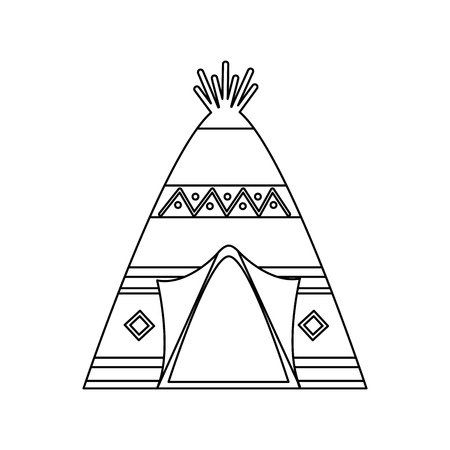 Teepee home native american icon image vector illustration design 일러스트