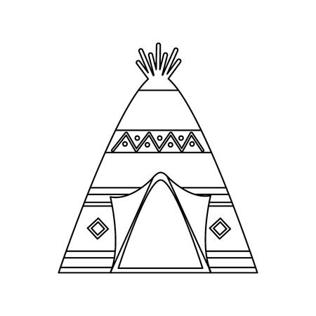 Teepee home native american icon image vector illustration design  イラスト・ベクター素材