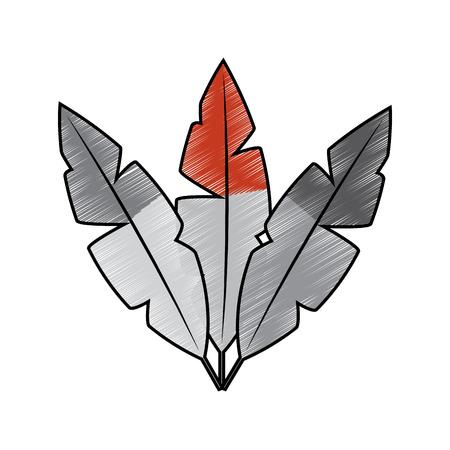 Feathers icon image vector illustration design Illustration