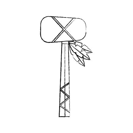 戦争クラブ武器古代伝統的なアイコン画像ベクトルイラストデザイン  イラスト・ベクター素材