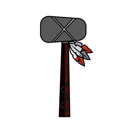 war club weapon ancient traditional icon image vector illustration design
