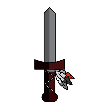Sword weapon ancient traditional icon image vector illustration design