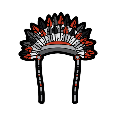 headdress native american icon image vector illustration design