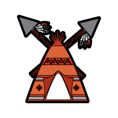 teepee home native american icon image vector illustration design