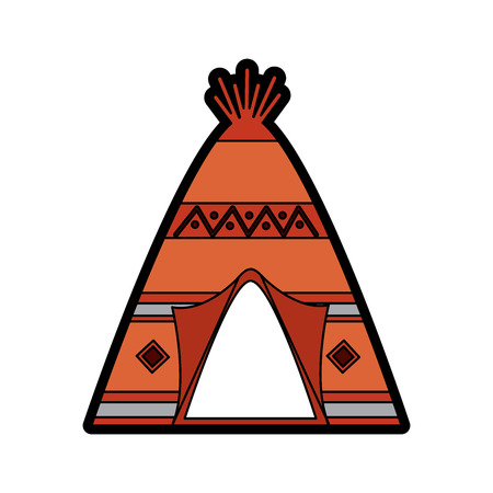 Tipi home native american icon image vector illustration design
