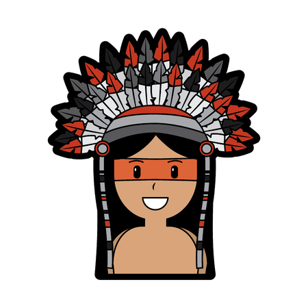 happy native american person icon image vector illustration design