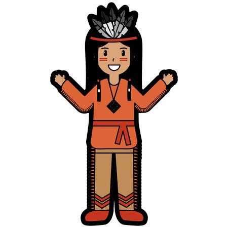 happy native american person icon image vector illustration design