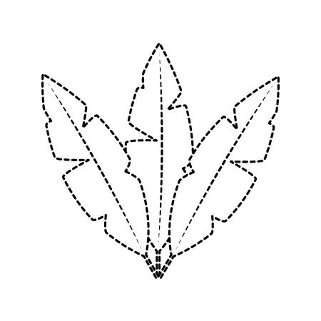 Plumes oiseau icône image vecteur ligne noire design pointillé illustration Banque d'images - 96611777