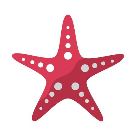 ヒトデまたは海の星のアイコン画像ベクトルイラストデザイン