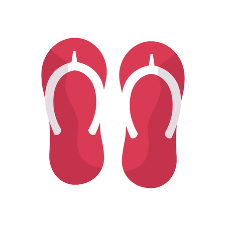 flip flops sandals beach icon image vector illustration design Illustration