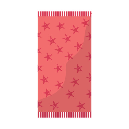 towel with star pattern beach icon image vector illustration design