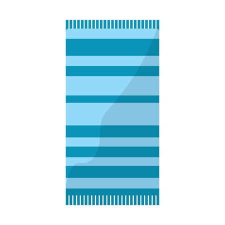 towel with striped pattern beach icon image vector illustration design