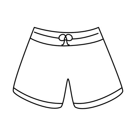 trunks bathing suit man icon image vector illustration design