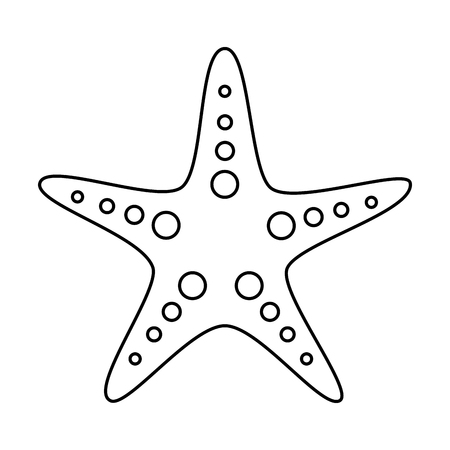 starfish or sea star icon image vector illustration design