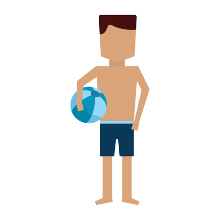 man in trunks bathing suit icon image vector illustration design