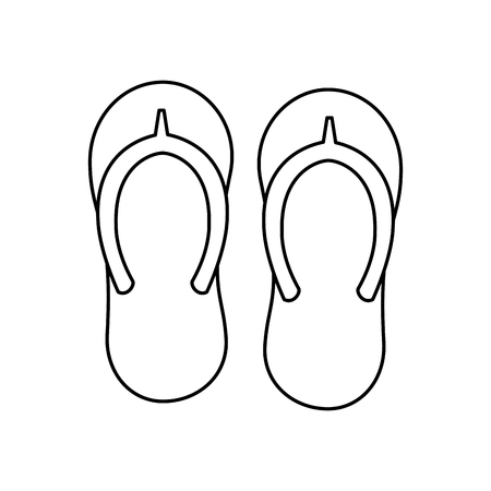 flip flops sandals beach icon image vector illustration design Illusztráció