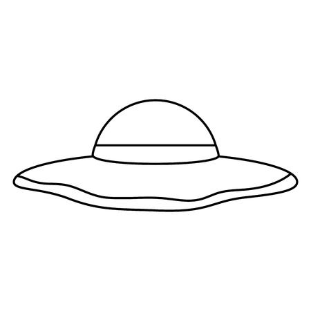 sun hat woman icon image vector illustration design
