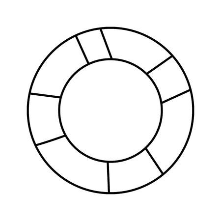 life preserver icon image vector illustration design Standard-Bild - 96611944