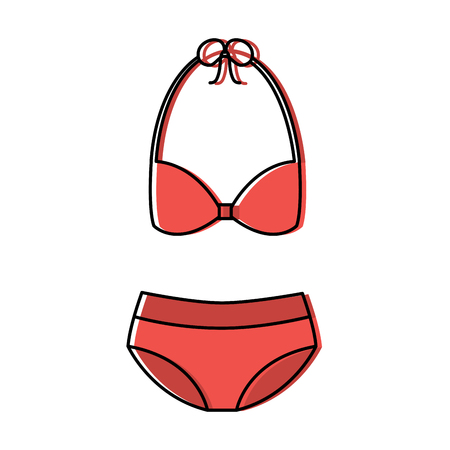 bikini swimsuit woman icon image vector illustration design Stock Illustratie