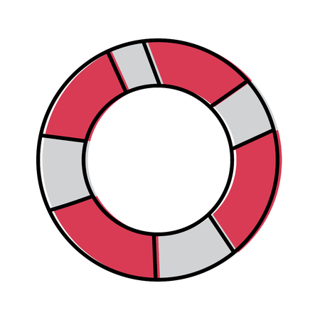 life preserver icon image vector illustration design 向量圖像