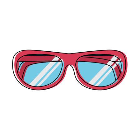 glasses round frame icon image vector illustration design