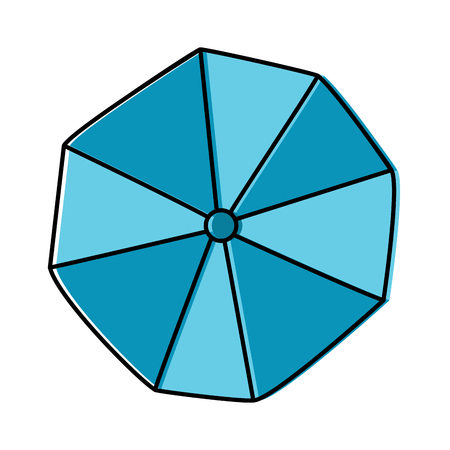 parasol umbrella topview beach icon image vector illustration design Illusztráció