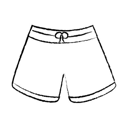 trunks bathing suit man icon image vector illustration design  black sketch line