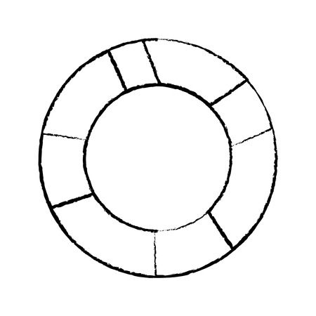 life preserver icon image vector illustration design  black sketch line