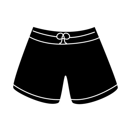 Trunks bathing suit man icon image vector illustration design black and white
