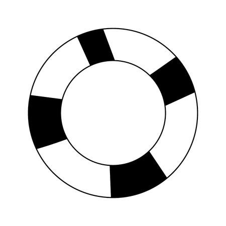 life preserver icon image vector illustration design  black and white Illustration