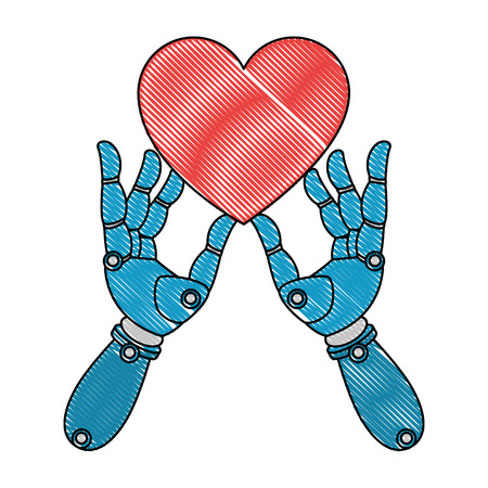 robot hands with heart vector illustration design Фото со стока - 96592995