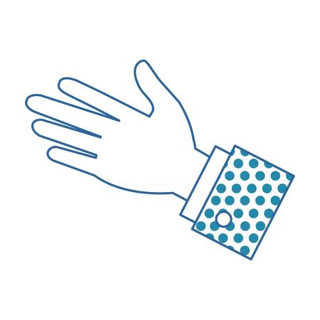 A hand human palm icon vector illustration design Ilustração