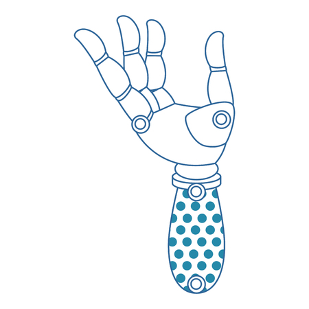 A robot hand humanoid icon vector illustration design