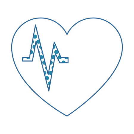 A heart cardiology isolated icon vector illustration design