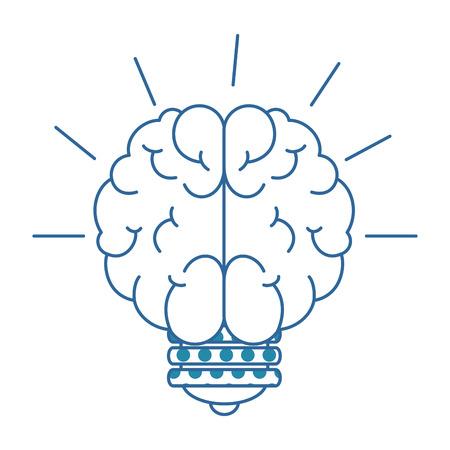  A bulb light idea with brain vector illustration design