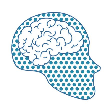 A human profile with brain vector illustration design Ilustracja