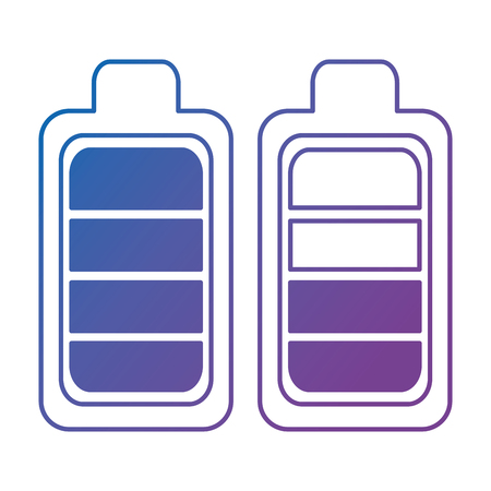 battery levels power icon vector illustration design 向量圖像
