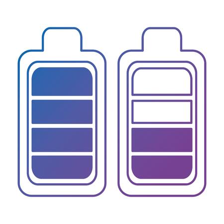 battery levels power icon vector illustration design Ilustração