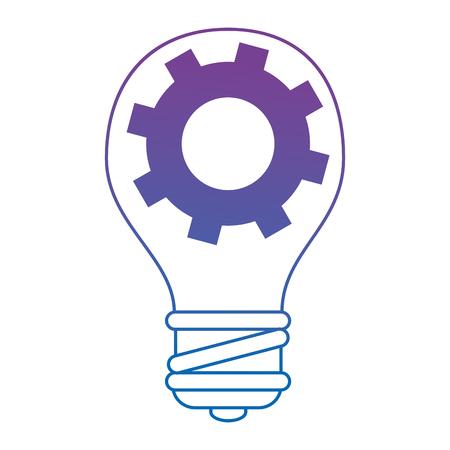 Bulb light idea with gears vector illustration design Ilustração